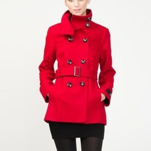 Le Chateau Red Wool Coat